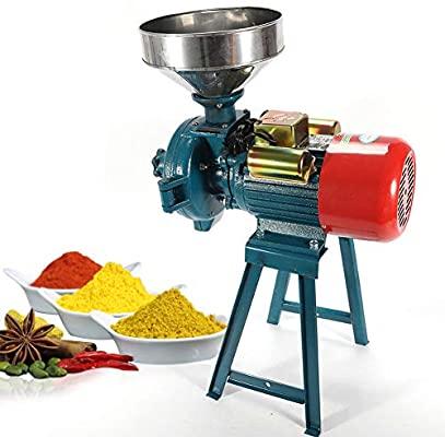 NAIZEA Heavy Duty Electric Grain Mill - Cereals Grinder, Rice, CornGrain, Coffee and Wheat (3000W)