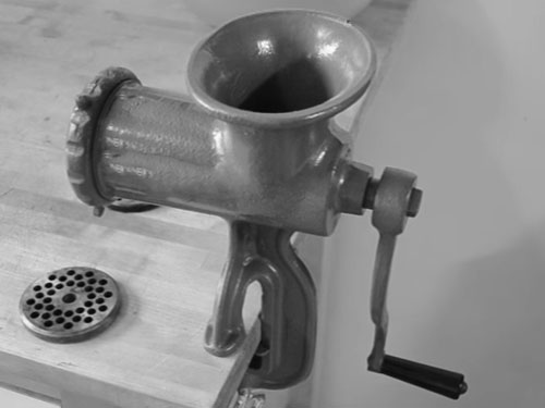 How to Put a Hand Meat Grinder Together