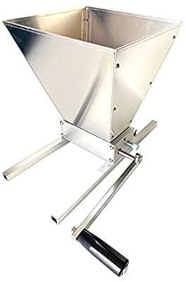 Kakaako Manual Adjustable Brewing Grain Millwith2 Roller Malt Crusher for Homebrew-