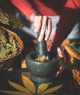 Can You Grind Weed with a Mortar and Pestle?